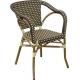 Cafe stol Diana - mørkebrun/beige