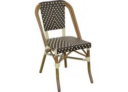 Cafe stol Mia - mørkebrun/beige