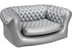 Z-Flates Oppustelig sofa - sølv