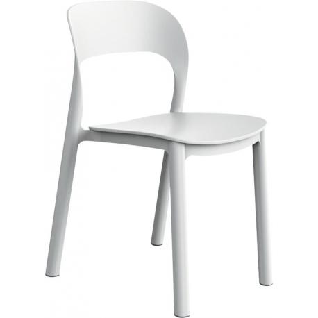 Plaststol Ona - hvid/hvid