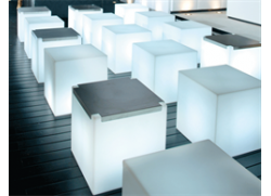 Kubo Lounge Cube - inox