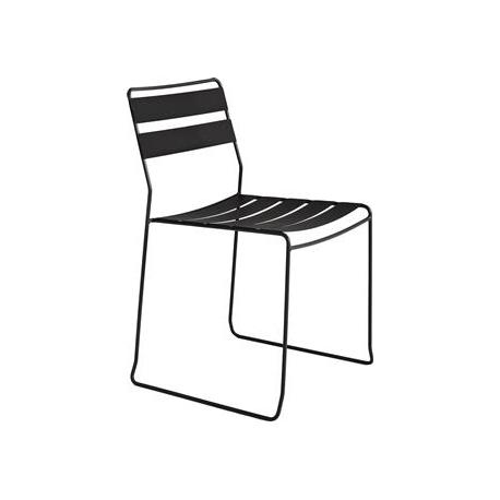 Straw stål stol - sort