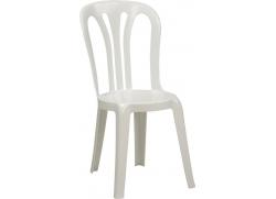 Caféstol økonomi plast - Hvid