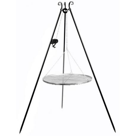 Grillstativ (treben) 180 cm med rustfristål rist